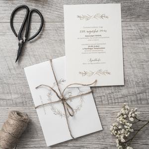 Esküvői meghívó, Esküvő, Esküvői dekoráció, Meghívó, ültetőkártya, köszönőajándék, Fotó, grafika, rajz, illusztráció, Papírművészet, Ha egy szép, kifinomult meghívót szeretnétek, akkor azt hiszem, ezt pont Nektek készítettem. :)\n\nMér..., Meska