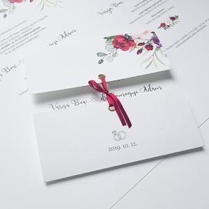Esküvői meghívó, Meghívó, Meghívó & Kártya, Esküvő, Fotó, grafika, rajz, illusztráció, Papírművészet, Különleges forma, de tradicionális hatás, ez a modern meghívó részleteiben rejti az igazi szépségét,..., Meska