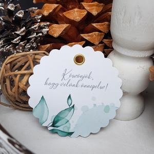 Köszönőajándék címke , Esküvő, Esküvői dekoráció, Meghívó, ültetőkártya, köszönőajándék, Fotó, grafika, rajz, illusztráció, Papírművészet, Egyszerű letisztult címke köszönő ajándékra.\n\nMérete 6,3 cm, kreatív kartonra nyomtatva. Arany/ezüst..., Meska