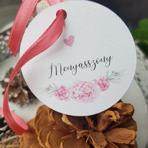 Ültetőkártya • címke , Esküvő, Esküvői dekoráció, Meghívó, ültetőkártya, köszönőajándék, Fotó, grafika, rajz, illusztráció, Papírművészet, Egyszerű, letisztult címke köszönő ajándékra, bármilyen szöveggel, motívummal kiegészíthető, tetszés..., Meska