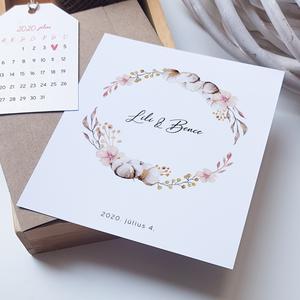 Esküvői meghívó • rosegold natúr, Meghívó, Meghívó & Kártya, Esküvő, Fotó, grafika, rajz, illusztráció, Papírművészet, Kraft papírban rejlik ez a különleges, kétoldalas rosegold hatású meghívó, amit egy elegáns mininapt..., Meska