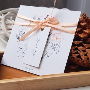 Esküvői meghívó, Esküvő, Esküvői dekoráció, Meghívó, ültetőkártya, köszönőajándék, Fotó, grafika, rajz, illusztráció, Papírművészet, Ha egy szép, kifinomult, romantikus hangulatú meghívót szeretnétek, akkor ez a meghívó a legjibb vál..., Meska