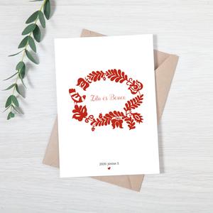 Esküvői meghívó • magyar népmesék, Esküvő, Esküvői dekoráció, Meghívó, ültetőkártya, köszönőajándék, Fotó, grafika, rajz, illusztráció, Papírművészet, A magyar népmesék ihlette esküvői meghívó a mesés nap bejelentéséhez! :)\n\nMérete 10,5x14,8  cm, krea..., Meska