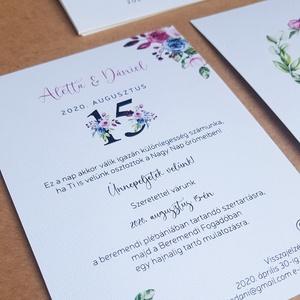 Esküvői meghívó, Esküvő, Esküvői dekoráció, Meghívó, ültetőkártya, köszönőajándék, Fotó, grafika, rajz, illusztráció, Papírművészet, Egy elegáns, de különleges meghívó, nem hagyományos színekkel.\n\nMérete 10,5x14,8 cm, kreatív kartonr..., Meska