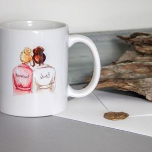 Koszorúslány felkérő bögre, Esküvő, Esküvői dekoráció, Fotó, grafika, rajz, illusztráció, 3 dl-es koszorúslány felkérő bögre, feliratozható., Meska