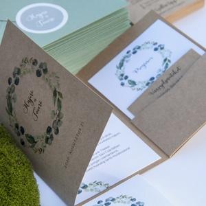 Esküvői meghívó csomag - 45 db, Esküvő, Esküvői dekoráció, Meghívó, ültetőkártya, köszönőajándék, Fotó, grafika, rajz, illusztráció, Papírművészet, A csomag tartalma:\n- 35 db natúr hangulatú esküvői meghívó, egy különleges forma, kézzel készített t..., Meska