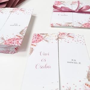 Ablakosan nyíló esküvői meghvó I., Esküvő, Meghívó & Kártya, Meghívó, Fotó, grafika, rajz, illusztráció, Papírművészet, Kézoldalra nyitható, elegáns stílusú meghívó.\n\nMérete A6, kinyitható, szalaggal átkötve.\nAz ár borít..., Meska