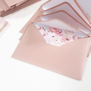 Bélelt boríték, rózsaszín, Esküvő, Meghívó & Kártya, Meghívó, Fotó, grafika, rajz, illusztráció, Papírművészet, C6 méretű, bélelt boríték, minőségi, matt papírból készítve.\n\nRendelhettek hasonló stílusú meghívót,..., Meska