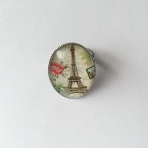 Eiffel torony gyűrű, Ékszer, Üveglencsés gyűrű, Gyűrű, Ékszerkészítés, Meska