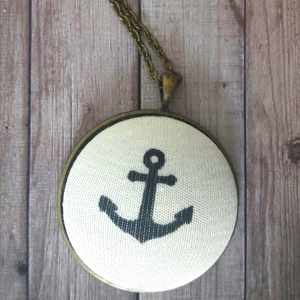 Big Navy - textilgomb nyaklánc (Kenza) - Meska.hu