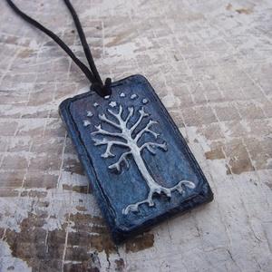 Gyűrűk Ura medál,  Gondor nyaklánc, Ékszer, Medálos nyaklánc, Nyaklánc, Gyűrűk Ura ihletésű medál, Gondor jelképével. Szabadkézi munka teljes mértékben, nem használtam semm..., Meska
