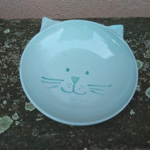 Cicatálka, cica etetőtál (KeraMici) - Meska.hu