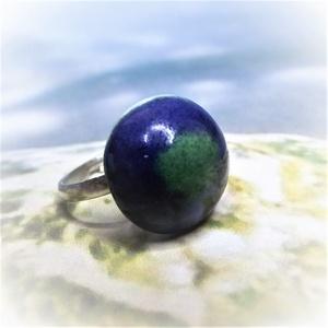 Kék-zöld mázas kerámia gyűrű, Ékszer, Gyűrű, Táska, Divat & Szépség, Kerámia, Ékszerkészítés, Fehér agyagból, kézzel formázott gyűrű utánozhatatlan különlegessége a kék és a zöld mázak találkozá..., Meska