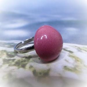 Rózsaszín álom - kerámiagyűrű - Meska.hu