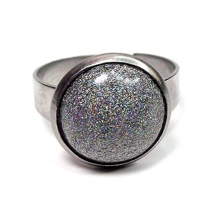 """MAGIC - Színjátszó, hologramos, kerámiadíszes nemesacél gyűrű 1.2 - Különleges ajándék bármely alkalomra, Ékszer, Esküvő, Gyűrű, Ékszerkészítés, Kerámia, Egy \""""TITKOS CSODA\"""" ékszer, ami csak akkor mutatja meg rejtelmes igazi varázsát, amikor Te szeretnéd!..., Meska"""