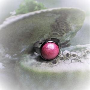 """UNIKORNIS korallrózsaszín kerámia gyűrű nemesacél alappal, Ékszer, Gyűrű, Kerek gyűrű, Szereted a szivárvány varázslatos színeit? Jó helyen jársz!  """"Unikornis kollekció"""" része ez a elegán..., Meska"""