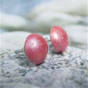"""UNIKORNIS rózsaszín kerámia fülbevaló - Ajándék lányoknak nőknek névnapra születésnapra, Ékszer, Fülbevaló, Pötty fülbevaló, Szereted a szivárvány varázslatos színeit? Jó helyen jársz!  """"Unikornis kollekció"""" része ez a elegán..., Meska"""