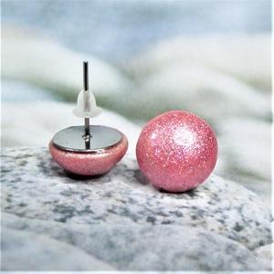 UNIKORNIS rózsaszín kerámia fülbevaló - Ajándék lányoknak nőknek névnapra születésnapra - Meska.hu
