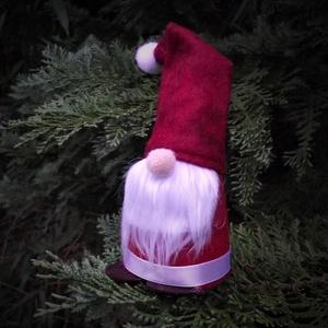 Karácsonyi dekoráció - Manó - Mikulás - Karácsonyfadísz - ajándék (keramika) - Meska.hu