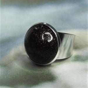 """UNIKORNIS csillogó aranybarna kerámia gyűrű - Ajándék lányoknak nőknek névnapra születésnapra, Ékszer, Gyűrű, Szoliter gyűrű, """"Unikornis kollekció"""" része ez a elegáns gyűrű. A fényes sötétbarna kerámiadíszt a csillámló aranyló..., Meska"""
