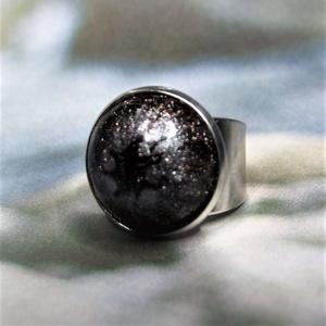 UNIKORNIS csillogó aranybarna kerámia gyűrű - Ajándék lányoknak nőknek névnapra születésnapra, Ékszer, Gyűrű, Szoliter gyűrű, Ékszerkészítés, Kerámia, Meska