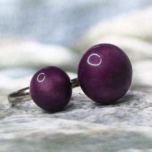 Anya - Lánya lila kerámia gyűrű szett , Ékszer, Gyűrű, Szoliter gyűrű, Kerámia, Ékszerkészítés, Minden kislány örül, ha az anyukájáéhoz hasonló gyűrűt hordhat! \nEz az Anya-Lánya gyűrűpár kifejezi ..., Meska