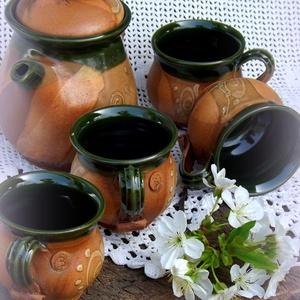 kávés kvartett  kancsóval (keramiko) - Meska.hu