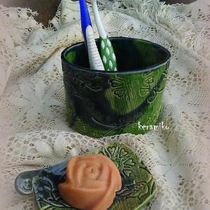 szappantartó fogkefetartóval (keramiko) - Meska.hu