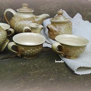 Kávés barna teás szett (keramiko) - Meska.hu
