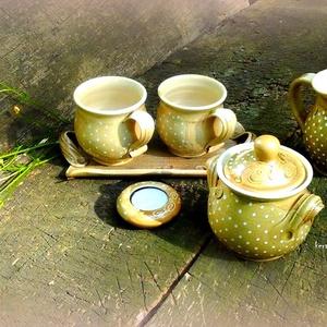 kávésbögre párban pöttyösen (keramiko) - Meska.hu