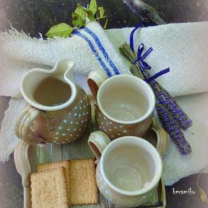 nyári kávés kekszes szettes (keramiko) - Meska.hu