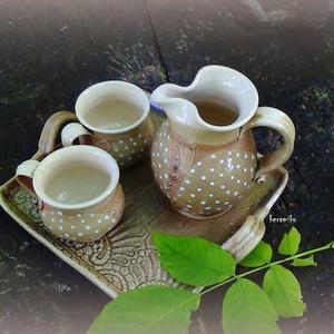 nyári kávés sütivel szett (keramiko) - Meska.hu