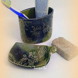 szappntartó fogkefetartóval (keramiko) - Meska.hu