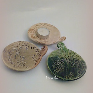 mécsestartó (keramiko) - Meska.hu