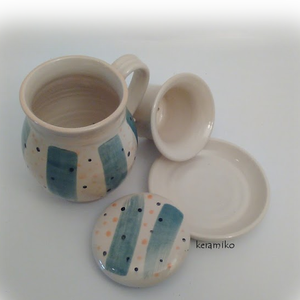 Bögre szűrővel pizsamában (keramiko) - Meska.hu