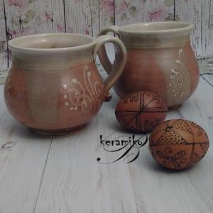 bögre párban ünnepi hangulatban (keramiko) - Meska.hu