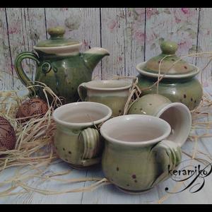 kávés kvartett (keramiko) - Meska.hu