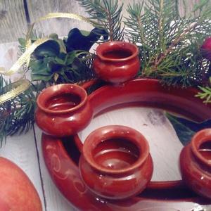 adventi koszorú gyertyatartó (keramiko) - Meska.hu