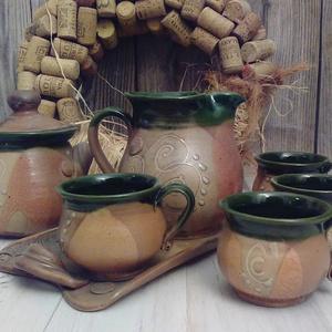 négy bögrés kávés  (keramiko) - Meska.hu