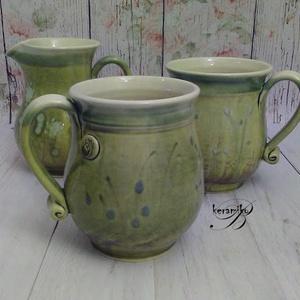 Bögrepár kancsóval (keramiko) - Meska.hu