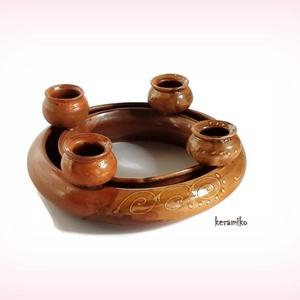 adventi koszorú (keramiko) - Meska.hu