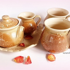 Bögre -szett selymes pasztellban (keramiko) - Meska.hu