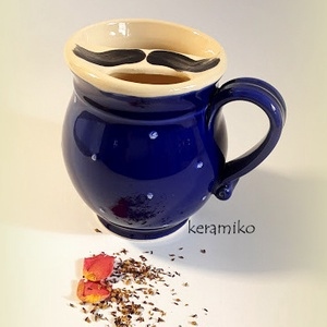 bögre bajuszvédővel (keramiko) - Meska.hu