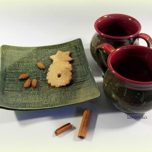 Bögrepáros süti tálcával, Otthon & lakás, Konyhafelszerelés, Bögre, csésze, Tálca, Kerámia, Reggeli teákhoz, délutáni bekuckózáshoz vagy esti beszélgetésekhez hideg vagy forró italokkal  finom..., Meska