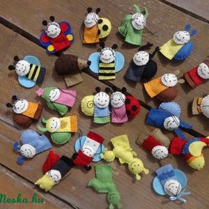 25db-os filc Bogyó és Babóca ujjbáb készlet, bábszínház, báb, Gyerek & játék, Játék, Plüssállat, rongyjáték, Otthon & lakás, Dekoráció, Varrás, Kund részére készítettem ezt a 25db-os filc ujjbáb készletet, de ha Neked is tetszenek, szívesen elk..., Meska