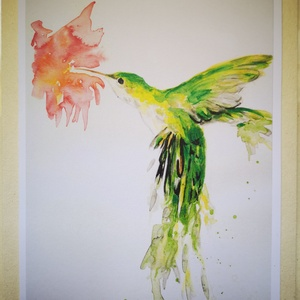 Varázslat, Művészet, Művészi nyomat, Aquarell képem alapján készült másolat. A5 méretben, hozzá illő sörkarton háttérrel, fóliába csomago..., Meska
