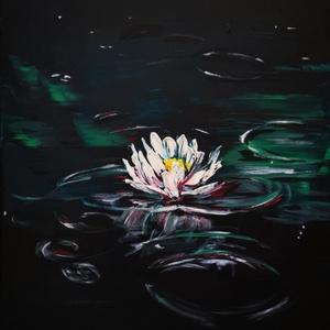 Tavirózsa- olaj vászonfestmény - Művészeti nyomat , Művészet, Művészi nyomat, 30*40 cm 230 g magas minőségű papíron, az eredeti olajfestmény alapján, giclée technikával készülő s..., Meska