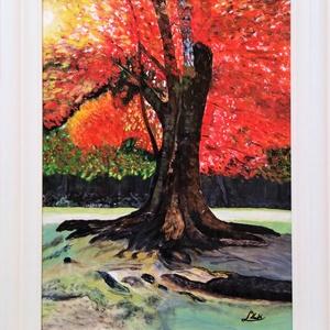 A fa élete, Művészet, Festmény, Akril, Festészet, Fotó, grafika, rajz, illusztráció, Az alkotás, farost, akril festékkel, 30x40 cm. Kerettel. Felülete kezelt, így kevésbé sérülékeny. A ..., Meska