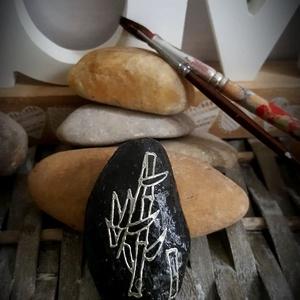 Feng Shui bambusz energia kavics kontúr kő, Otthon & Lakás, Dekoráció, Kavics & Kő, Mindenmás, Köszönöm, hogy betértél hozzám-hozzánk:-)\nA kavicsok, kövek szeretete kiskorom óta elkísért engem az..., Meska