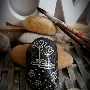 Feng Shui vizililiom energia kavics kontúr kő, Otthon & Lakás, Dekoráció, Kavics & Kő, Mindenmás, Köszönöm, hogy betértél hozzám-hozzánk:-)\nA kavicsok, kövek szeretete kiskorom óta elkísért engem az..., Meska